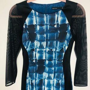 Karen Millen Dresses - Karen Millen Graphic Print Blue Dress